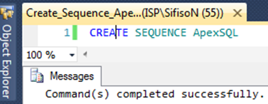 sql how to create sequence
