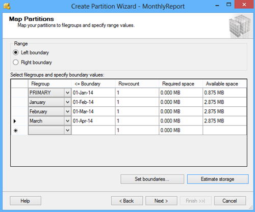 Map Partitions window