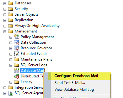how to send anonymous mail from sql server