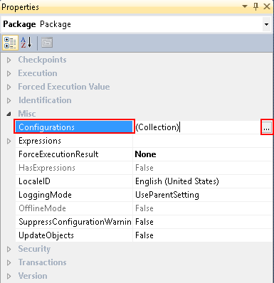 Expanding the Configurations option using BIDS