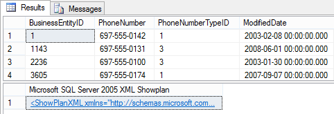 Dialog showing the Results tab using the STATISTICS XML option