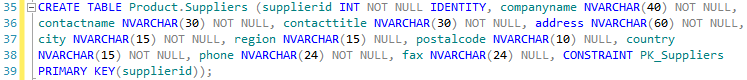 Bad SQL formatting example