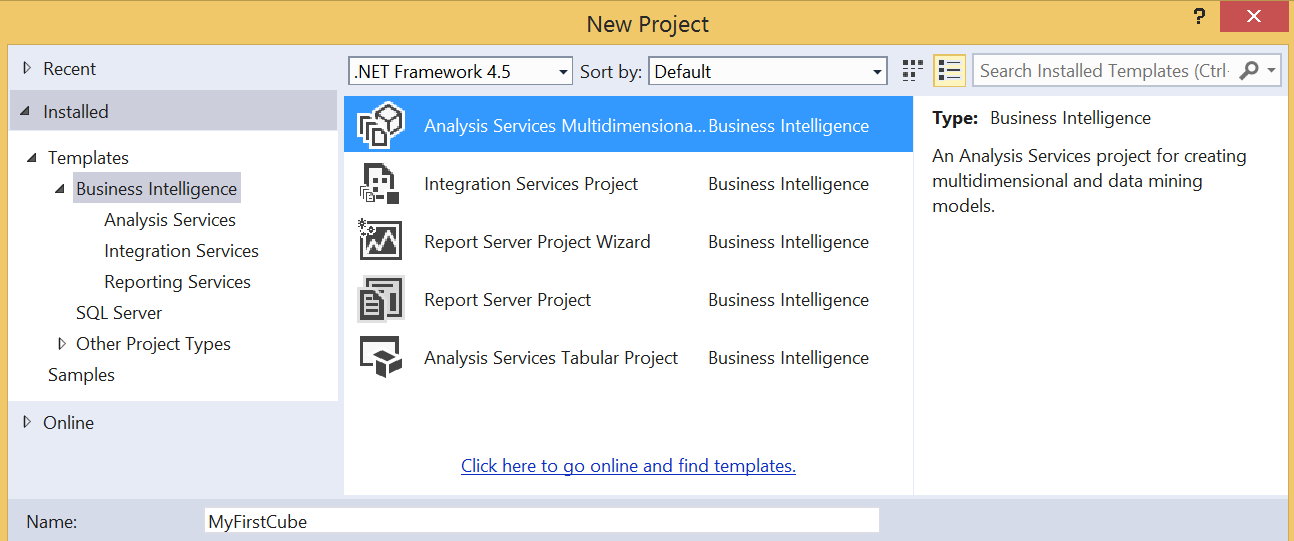 SQL Server Business Intelligence Features