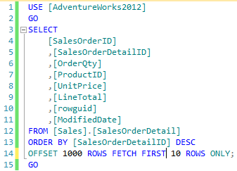 An example of a valid SQL syntax using the FIRST clause