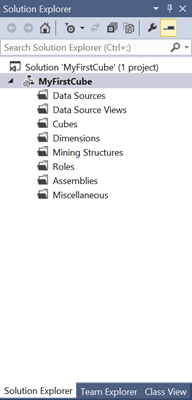 The order of the folders in the Solution Explorer