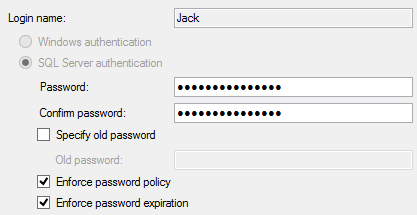 Policy is successfully applied and the target login is properly altered