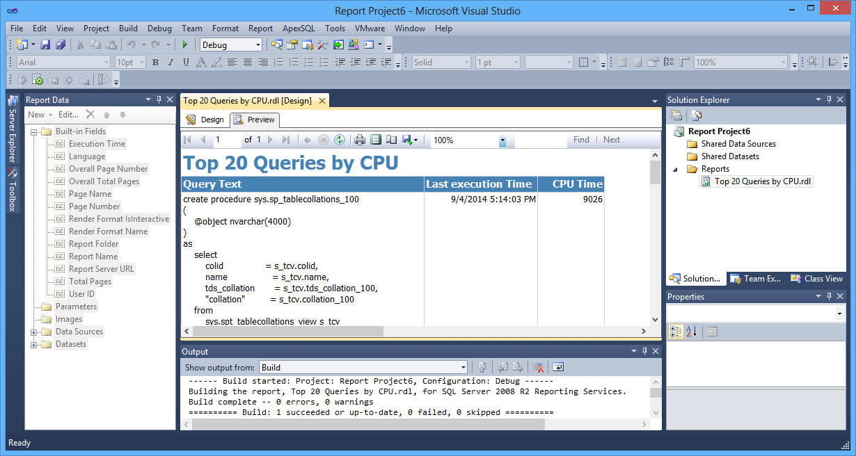 Writing custom code in sql reporting services