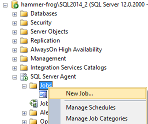 Creating New job in Object Explorer