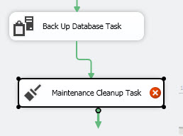 Double clicking on the Maintenance Cleanup Task