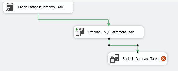Double clicking the Backup Database Task