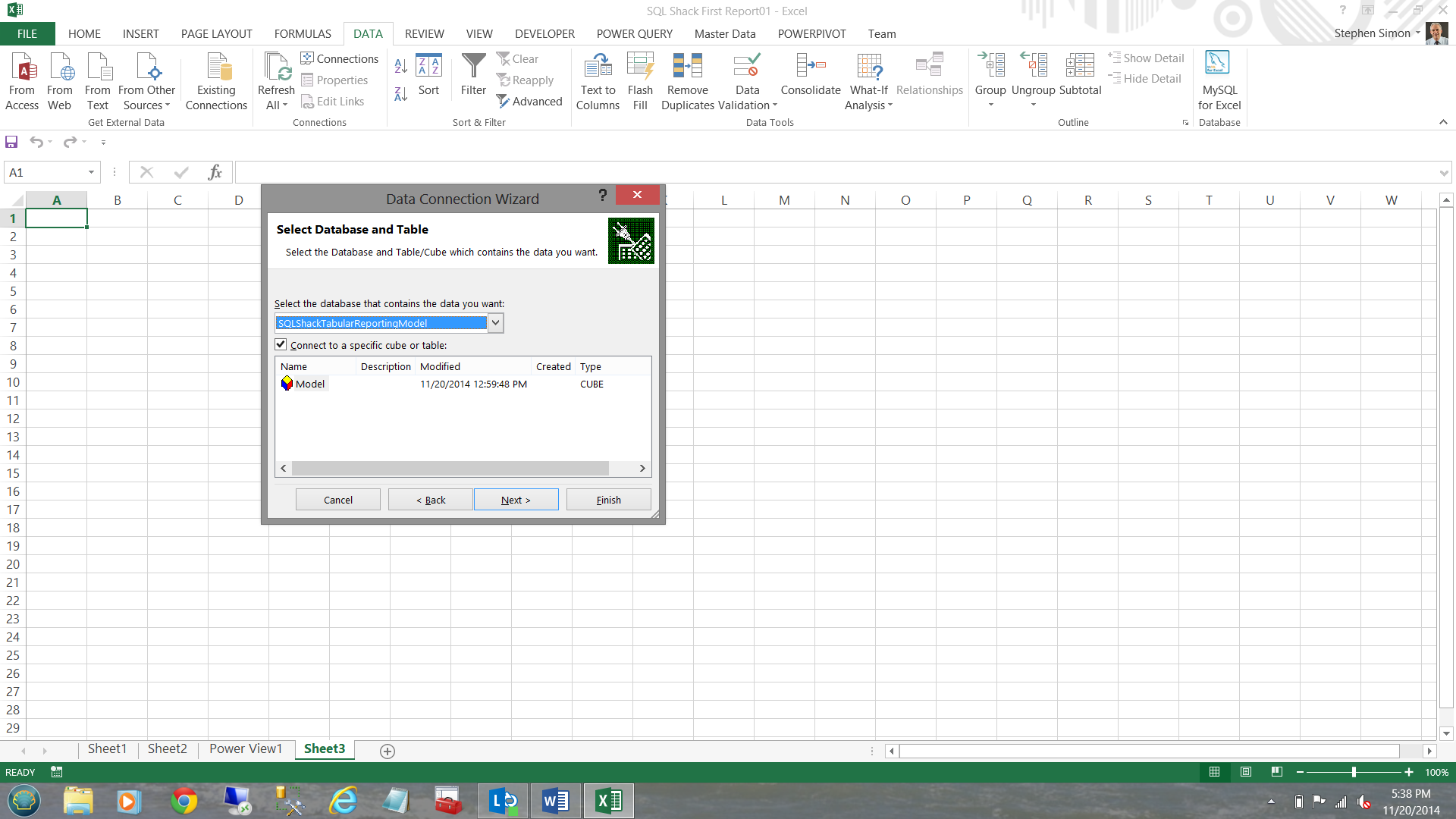 Locating Excel Data