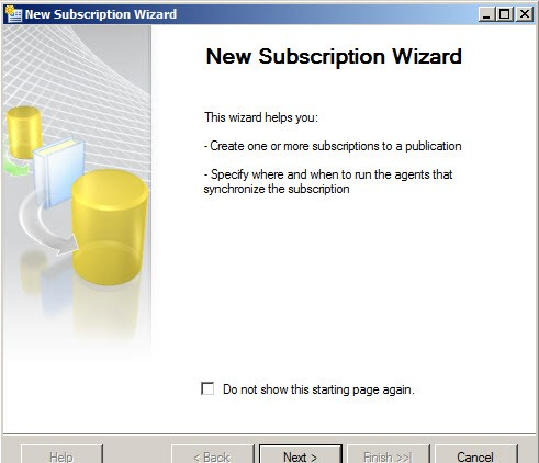 New Subscribtion Wizard