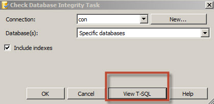 View T-SQL button