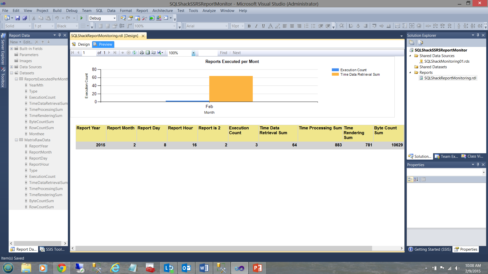 Monitoring SQL Server Reporting Services