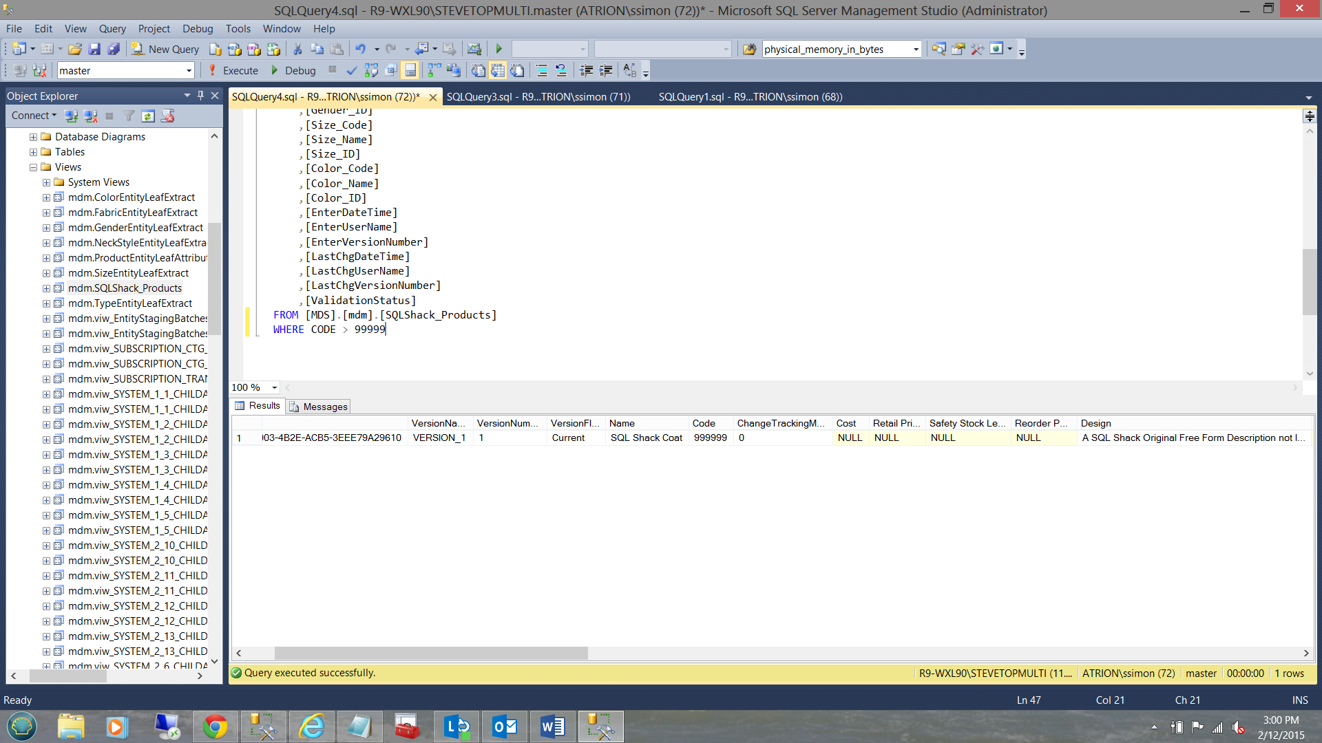 how to create a view in sql server management studio