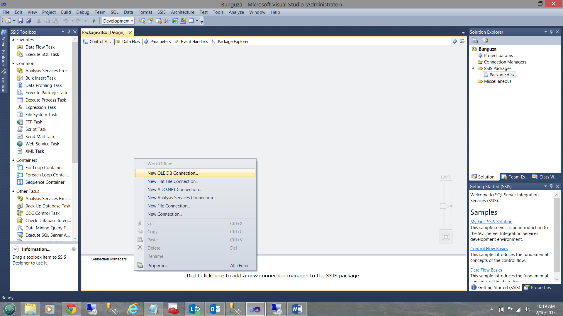Creating dynamically generated CSV files containing SQL