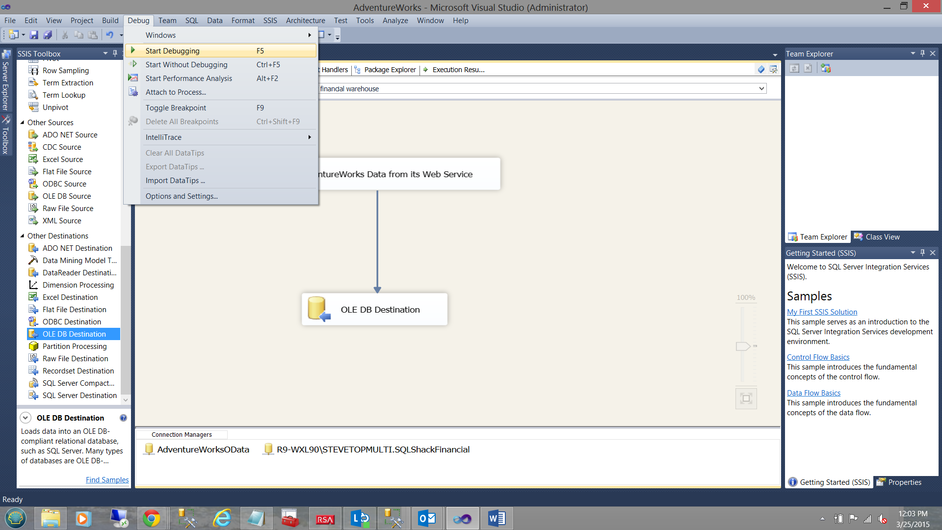 How to import data into SQL Server databases using the OData