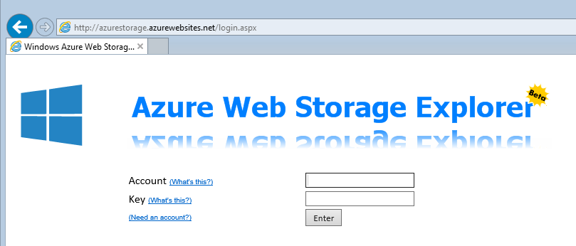 Windows Azure Web Storage Explorer