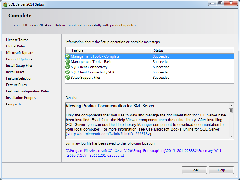 How to install SQL Server 2014 Management Studio