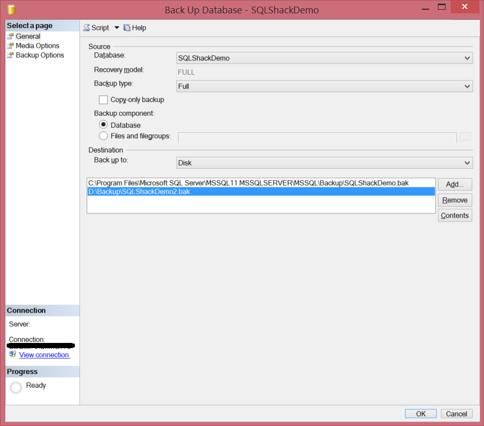 how to clear database in sql server 2008