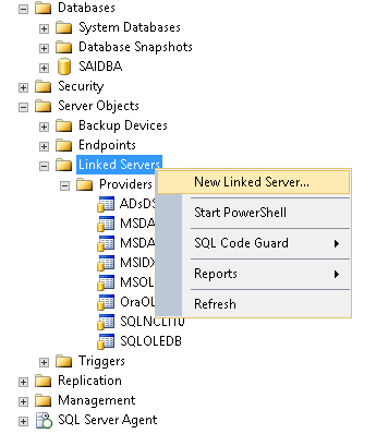 Link a SQL Server to an Oracle database - SQL Shack