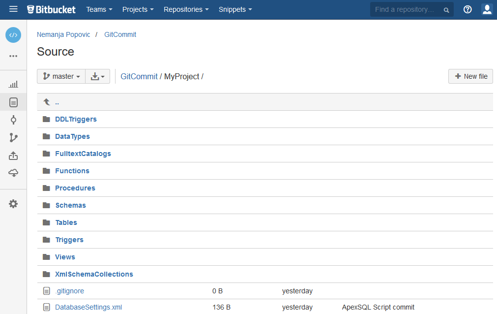 How to create a new Git repository on Bitbucket and review