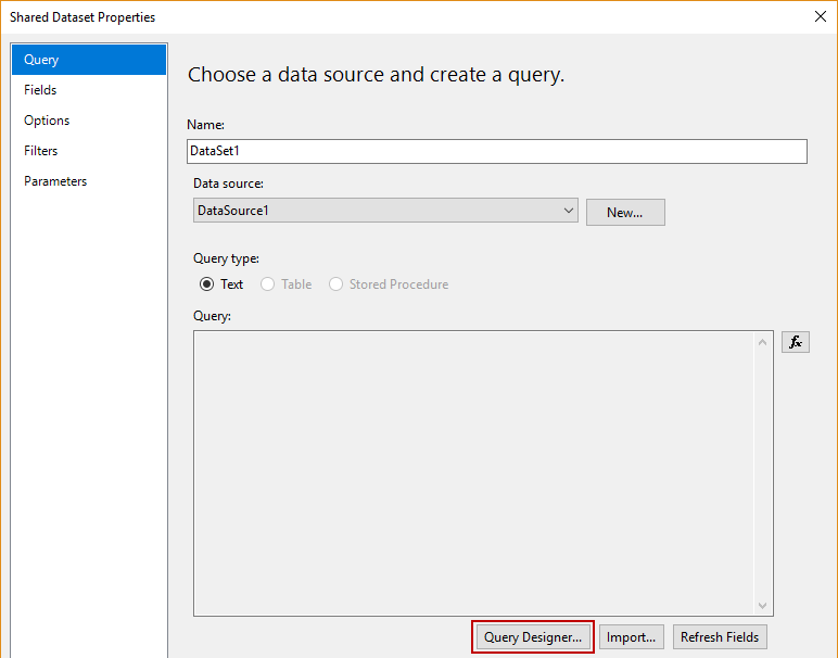 How to create a simple SSRS Report using SSAS Tabular model