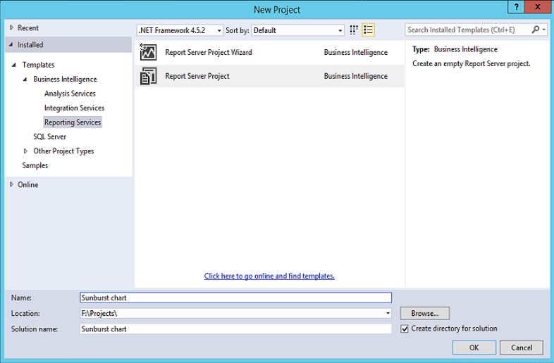 how to create ssrs report in visual studio 2015