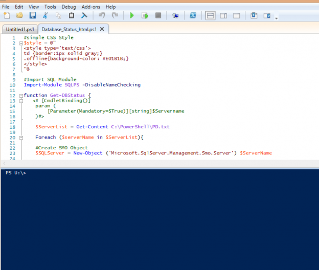 PowerShell: Get a daily database status email