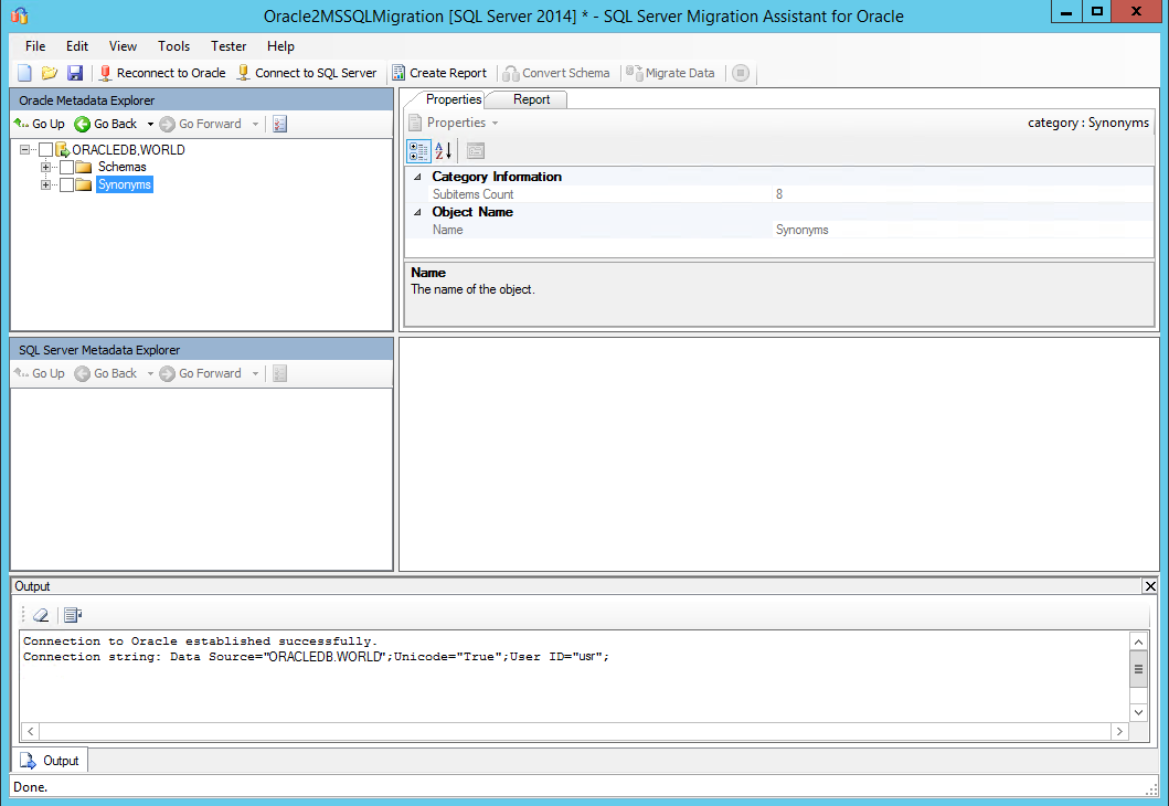Using SSMA v7 1 for Oracle to migrate into SQL Server