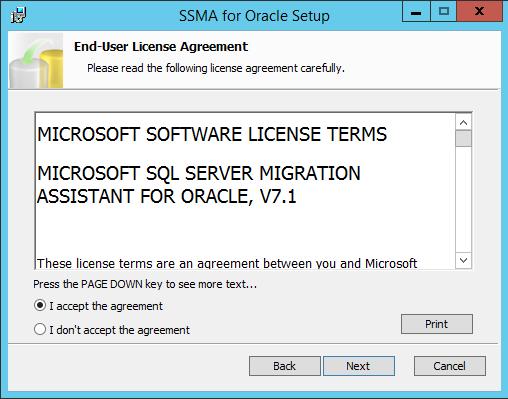 Microsoft SQL Server Migration Assistant (SSMA) v7 1 for Oracle