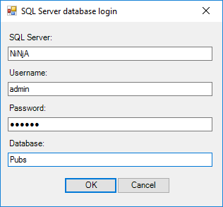 How to create a simple SQL Server database login dialog using PowerShell