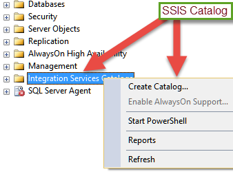 deploying packages to sql server integration services catalog ssisdb