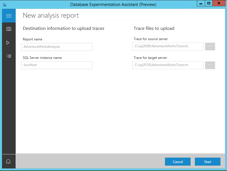 How to use the SQL Server Database Experimentation Assistant (DEA) tool