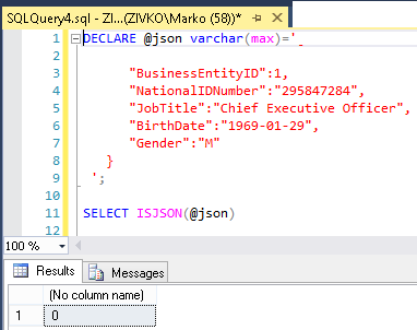 How to import/export JSON data using SQL Server 2016