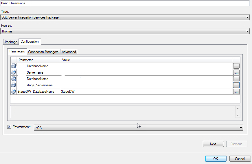 How to execute a Deployed Package from the SSIS Catalog with various