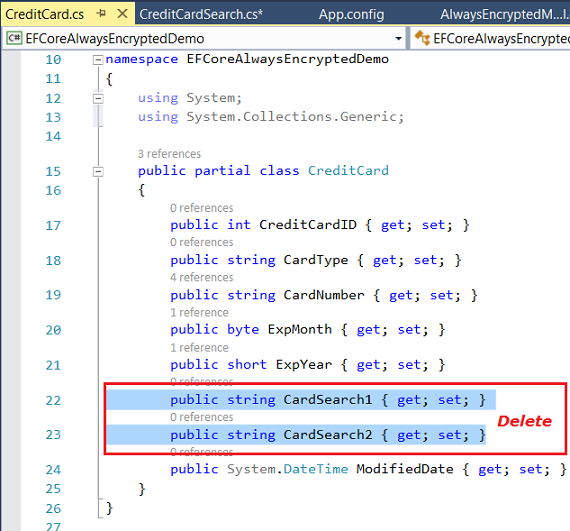How to mimic a wildcard search on Always Encrypted columns