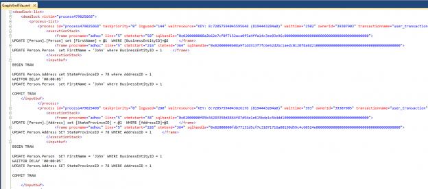 Understanding the XML description of the Deadlock Graph in SQL Server