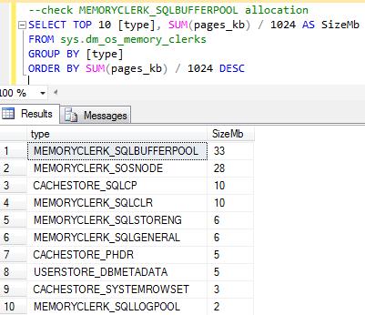 SQL Server Buffer Pool in action