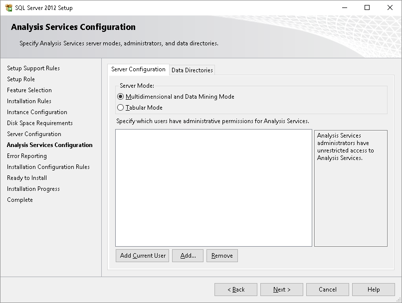 Connecting to Data Source(s) with SQL Server Analysis Services