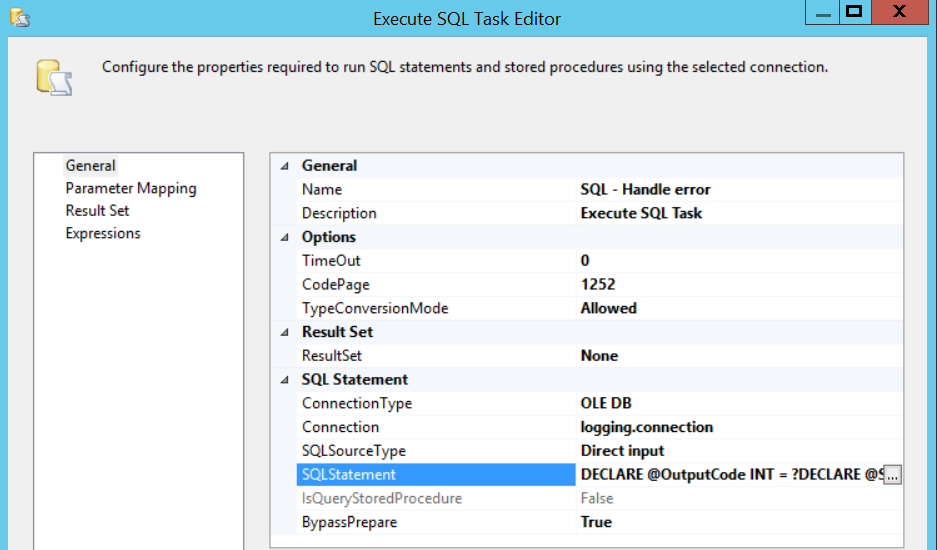 Executing your own  NET console application from SSIS