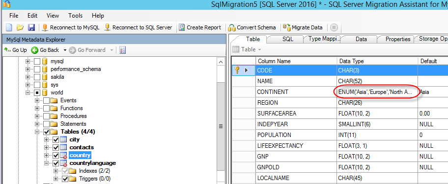 How to migrate MySQL tables to SQL Server using the SQL