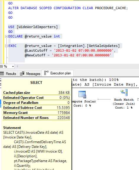 Adaptive Query Processing in SQL Server 2017
