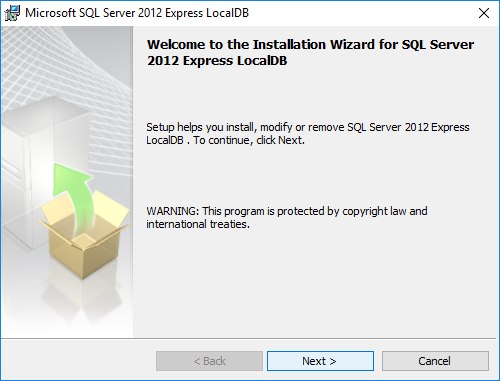 How to install Microsoft SQL Server Express LocalDB