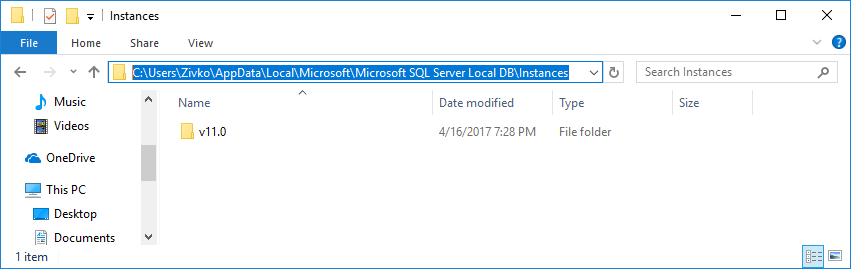 How to install Microsoft SQL Server Express LocalDB