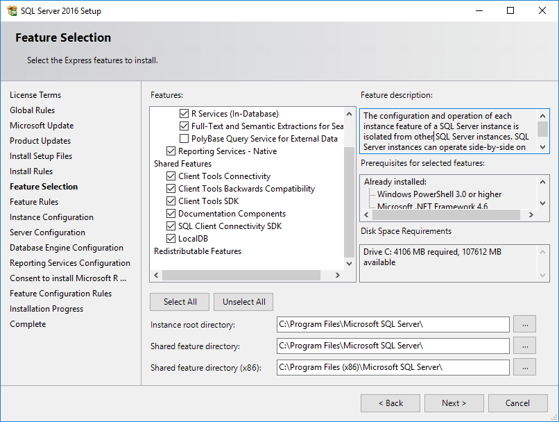comment installer Microsoft SQL Server 2008 Express