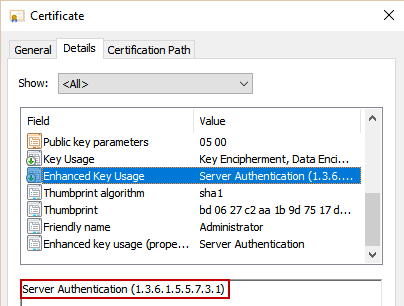 generating public key and sql server certificate