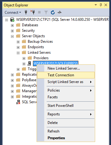 How to create and configure a linked server in SQL Server