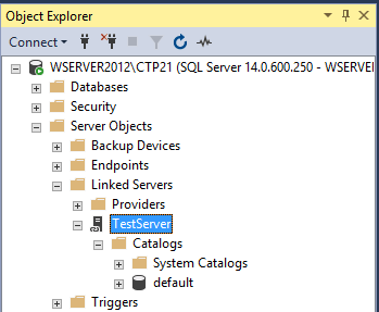 How to create, configure and drop a SQL Server linked server using