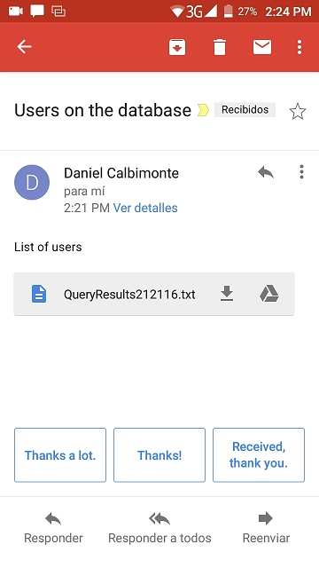 How to email SQL query results to your smartphone using the